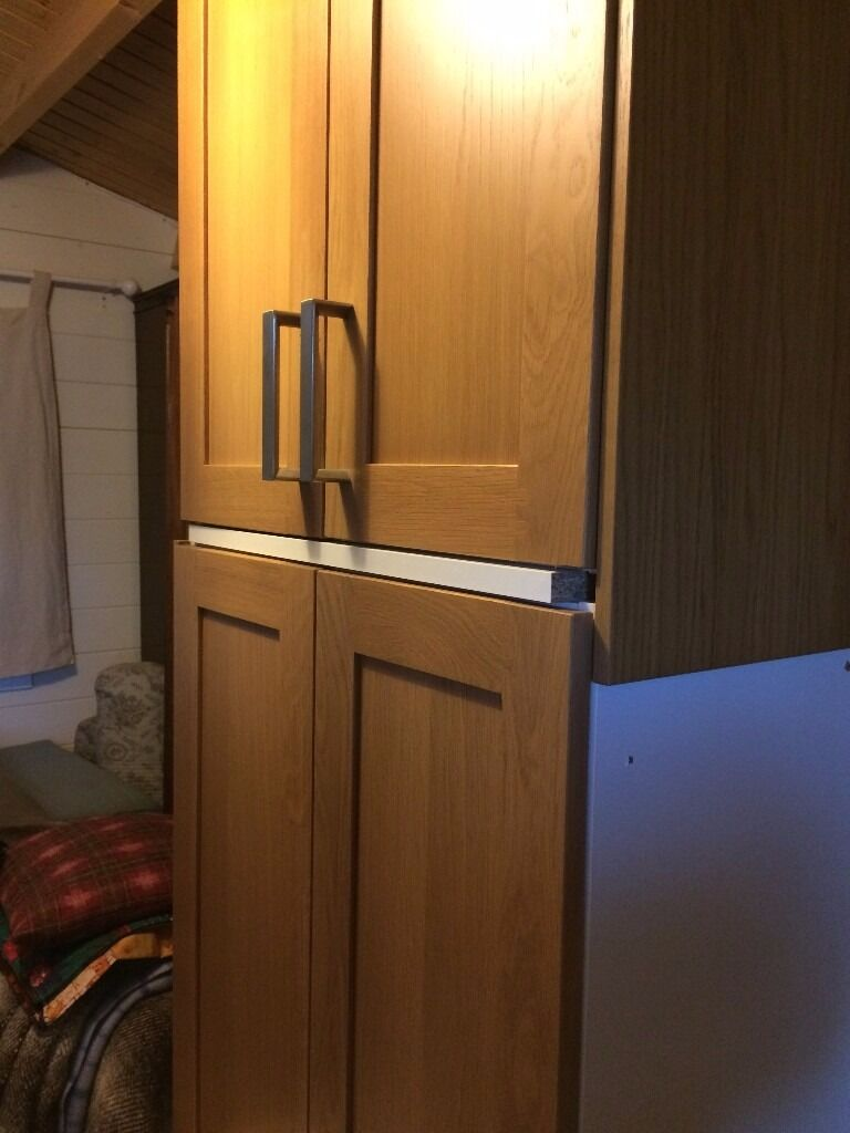 ikea kitchen wall units with tidaholm solid oak doors in duns
