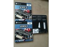 3 x NEW Corsair CMX8GX3M2A1600C11 XMS3 8GB (2x4GB) DDR3 1600 Mhz CL11 Performance Desktop Memory Kit