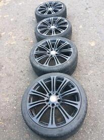 """BMW 19"""" staggered set of alloys with tyres"""