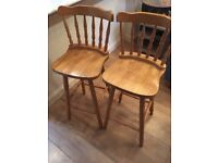 Pair of bar stools, great condition