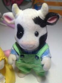 Sylvanian family Friesian cattle/cow family