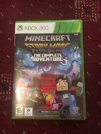 Xbox 360 Minecraft Story Mode Complete Adventure 1-8 In Excellent Condition - like brand new