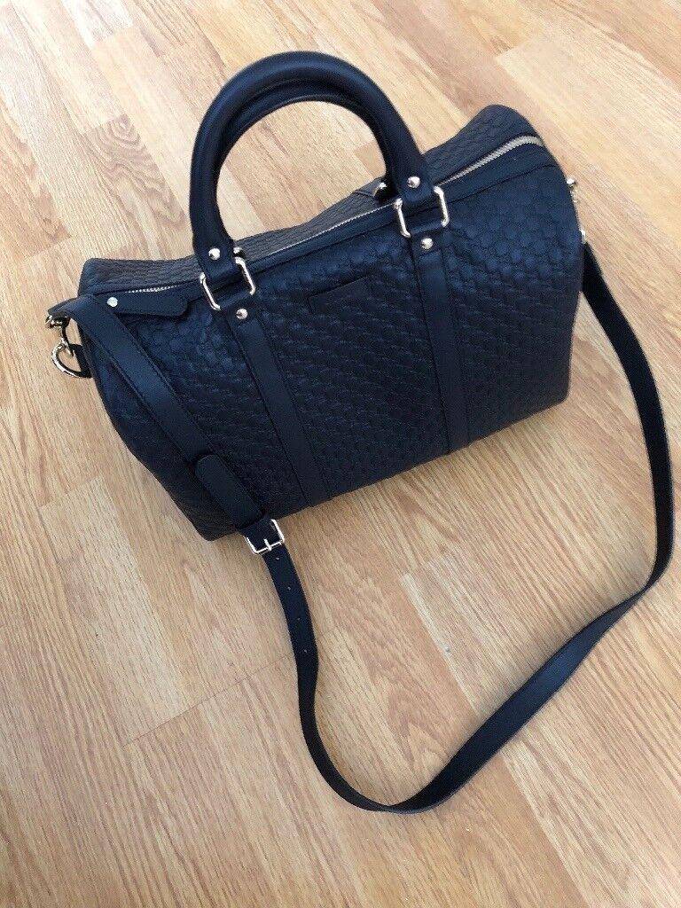 ba11a88b971 Gucci Leather Boston Bag