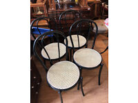 Metal Cafe Style Chairs , in good condition Also have 4 seat cushions for them Free Local Delivery.