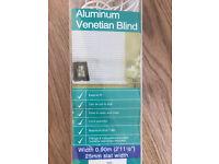 White Aluminum Venetian Blind | Perfect Condition in Box | 0.90m Width | 25mm slat