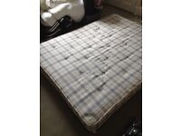 King size mattress with protector