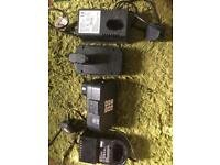 For sale two battery chargers plus two 24 v batterys