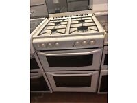 60CM WHITE STOVES DUEL FUEL GAS COOKER