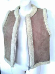 Vintage 1960s HiPPIE VeST Sheepskin Shearling  XS 34 LSD Drug Era Made in England 1964 1965 1966 1967 1968 Hippies Hippy