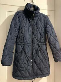 Navy blue padded coat