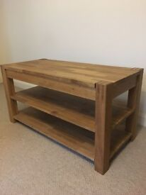 Pine Televison / Hifi table unit. Hidden drawer and two shelves