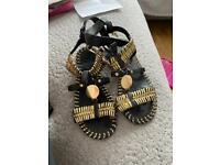 Girls river island sandals size 13