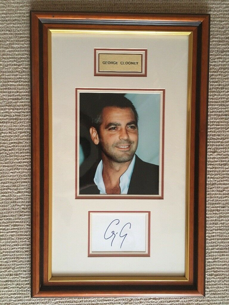 George Clooney Signed Autographed Photo Picture and COA AFTAL