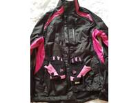Cycling jacket with gloves