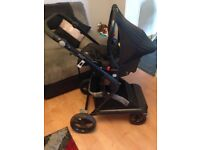 """Mist"" grey pram and car seat (smoke and pet free home)"