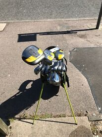 Set of Nike clubs with carry bag
