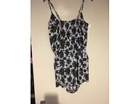 Bnwt womens black/white playsuit size 12