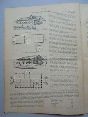 1882 3 Schweiz Basel Das Bruderholz 2 Bauernhäuser