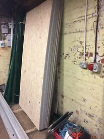 5 x new 8x4 sheets of 18mm OSB3 Smart Ply Site Protect