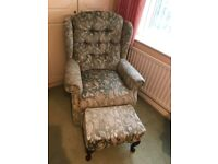 Celebrity Upholster Armchair With Footstool £80
