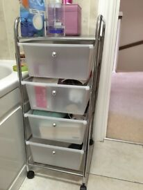 Plastic and metal drawers