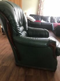 Original Parker Knoll Leather Armchair FREE
