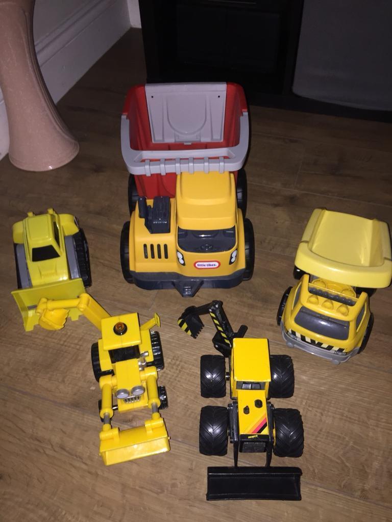 Boys Various Diggers and Trucks
