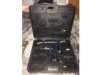 Cordless drill an hacksaw tool