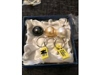 Woman pearl rings sterling silver 925 brand new