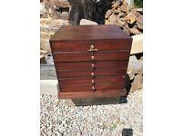 Antique mahogany specimen drawers, beautiful patina