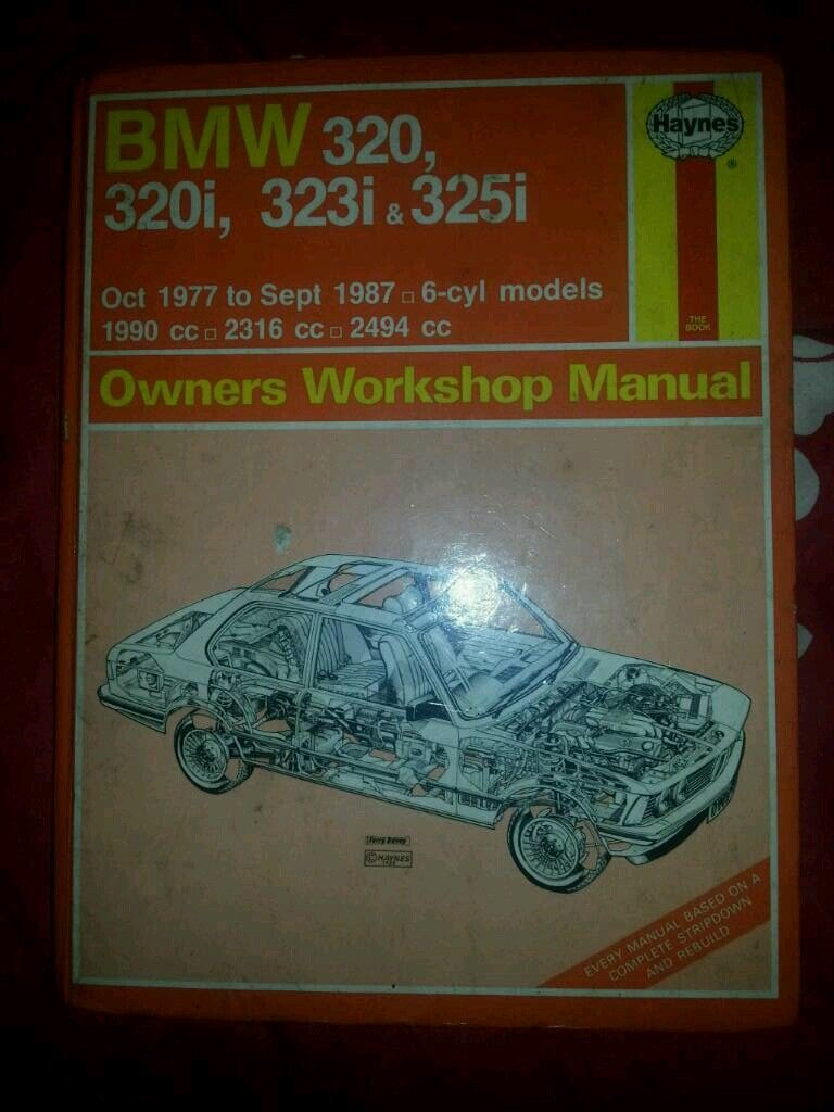 Bmw E21 & E30 Haynes Workshop Manual Book for 320,320i,323i and 325i