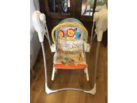 Fisher price swing and chair