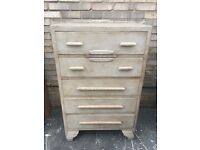CHEST OF DRAWERS ART DECO PAINTED FRENCH COUNTRY FARMHOUSE STYLE