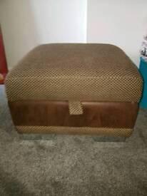 DFS storage footstool, pouffe