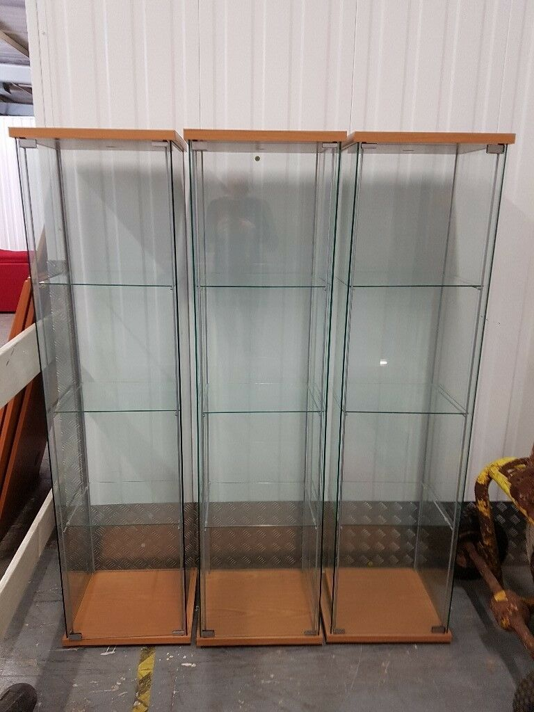 Ikea Detolf Glass Door Cabinets X 3 In Perth Perth And Kinross