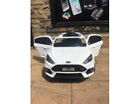Ford Focus RS, White, New With Warranty, Parental Remote & Self Drive