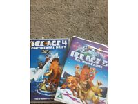 Ice Age 4 and Ice Age 5 dvd's