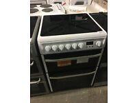 HOTPOINT DSC60P Electric Ceramic Cooker - White