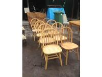 8 Farmhouse chairs