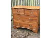 Antique satin walnut chest of drawers