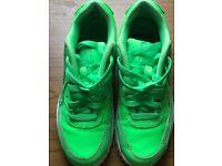 Lime green Nike air