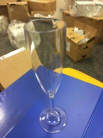 champagne flutes x 100 plastic clear