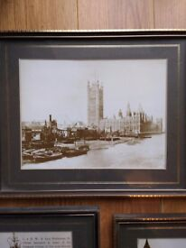 Old fashioned pictures of the Houses of Parliament (London)