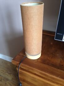 Table Lamp with Brown Shade
