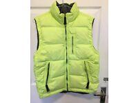 GAP KIDS BOYS XL DOWN GILET PUFFER JACKET BODY WARMER YELLOW HI VIS
