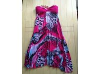 Size M pink dress. Adjustable straps