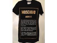 Moschino style long t-shirt size small