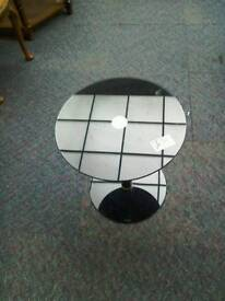 Black round glass coffee table #34145 £8