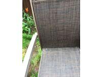 6 chair garden chair , table with garden umbrella