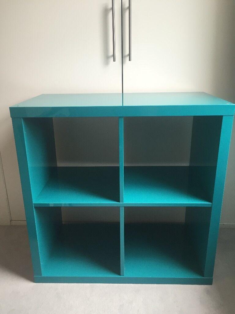 10 Kitchen And Home Decor Items Every 20 Something Needs: Ikea Kallax 4 Cube Shelving Unit - Turquoise Blue